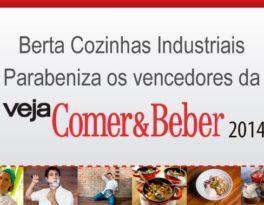 Berta Cozinhas parabeniza os vencedores da Veja Comer e Beber 2014