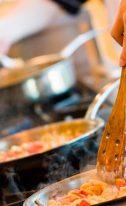 Métodos de cocção mais comuns no trabalho de um cozinheiro